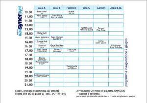 Il programma del 7 giugno.