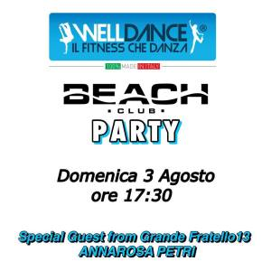 Welldance Beach Club Party Cinquale Forte dei Marmi 3 agosto Annarosa Petri