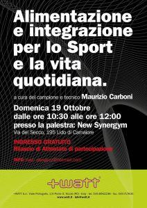 Alimentazione e integrazione con Maurizio Carboni