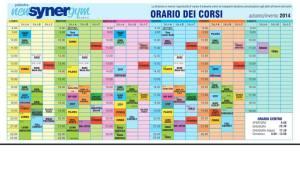 Orario Corsi Synergym 2014 2015