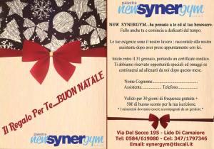 Coupon New Synergym Versilia gennaio 2015