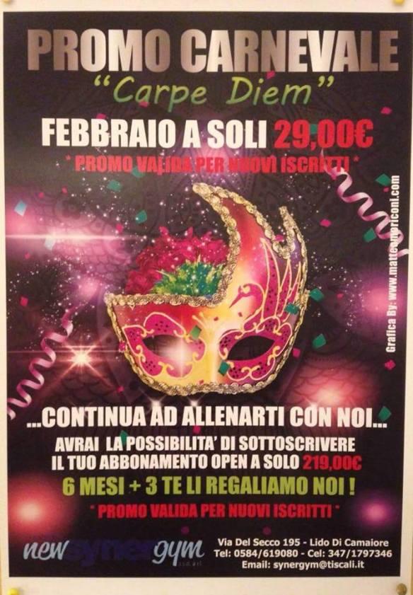 Promo Carnevale Palestra Synergym Versilia 2015