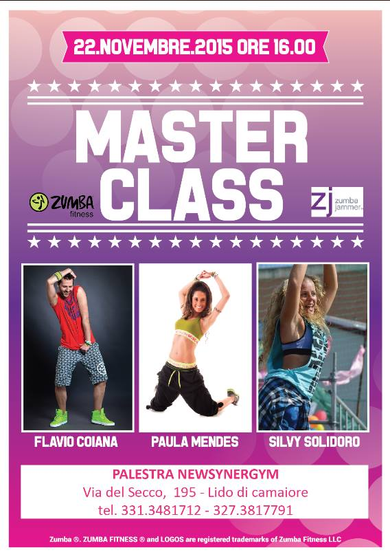 Master Class Zumba synergym 22 novembre 2015 Versilia Lido di Camaiore